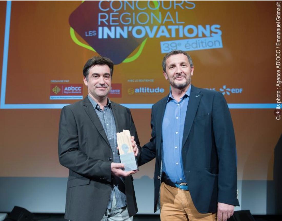 Intraterra primée « Entreprise dans les territoires de l'année 2020 » au concours Les Inn'Ovations